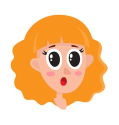 pretty blonde hair woman surprised facial vector image vector image