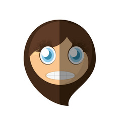 scared emoticon cartoon design vector image