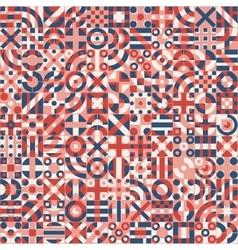Seamless Red Blue White Irregular Geometric vector image