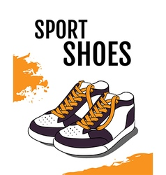 Sport shoes poster vector image vector image