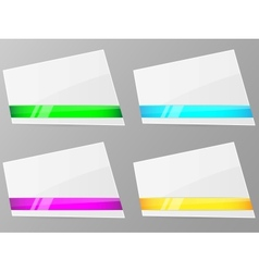 white paper with ribbon vector image vector image