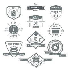 Car Repair Black White Badges vector image vector image