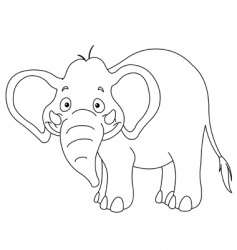 outlined elephant vector image vector image