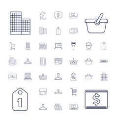 37 retail icons vector