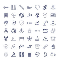 49 security icons vector