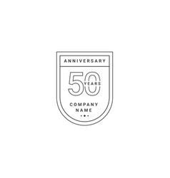 50 years anniversary celebration your company vector