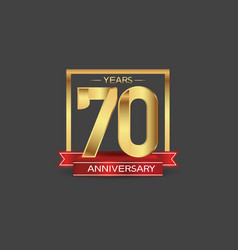 70 years anniversary logo style with golden vector