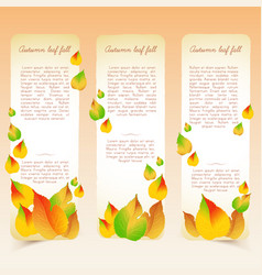 Abstract bright seasonal floral vertical banners vector