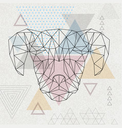 Abstract polygonal tirangle animal dog hipster vector