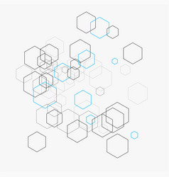 abstract with hexagons vector image