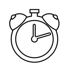 alarm watch isolated icon vector image