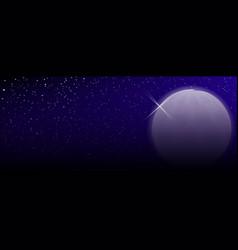 Artificial moon vector