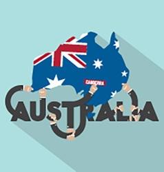 Australia Typography Design vector image