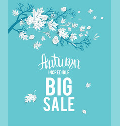 Autumn sale image vector