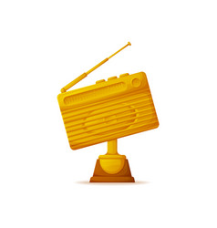 award for best radio station silver and gold vector image
