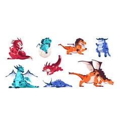 Baby dragon cartoon fairytale animals fictional vector