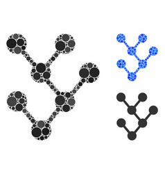 binary tree composition icon round dots vector image