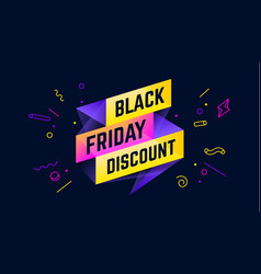 Black friday discount 3d sale banner with text vector