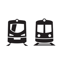black Train icons vector image