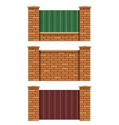 Brick fence vector