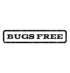 Bugs free watermark stamp vector