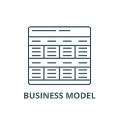 business model line icon business model vector image