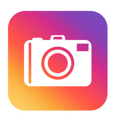 camera icon on gradient background flat vector image