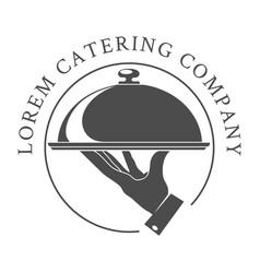catering logo emblem vector image