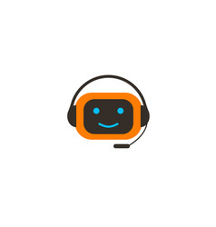 Chat bot character icon vector