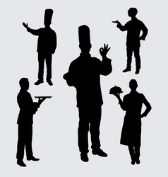 Chef silhouette vector