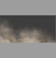 cloud condensation or white smoke on transparent vector image