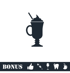 Cocktail icon flat vector image