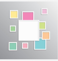 Collage one frame photo part picture image vector