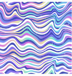 colored curved lines seamless pattern vector image