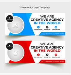 Corporate facebook cover template vector