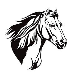 Decorative horse 13 vector