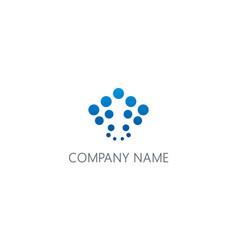 dot abstract bubble blue logo vector image