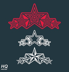Eps8union symbol Festive design element with stars vector