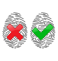 Finger-print scanning identification system vector