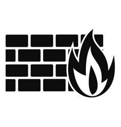 Firewall icon simple style vector