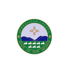 Flag of bernalillo county in new mexico usa vector