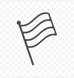 flag stripes icon isolated on transparent vector image