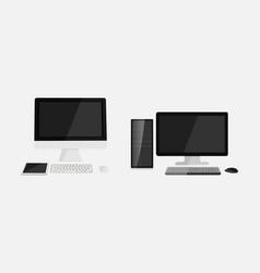 Flat design pc vector