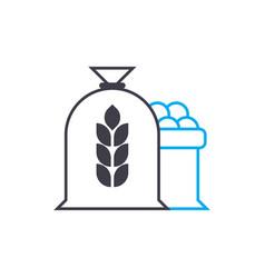 flour production linear icon concept flour vector image