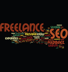 Freelance seo text background word cloud concept vector