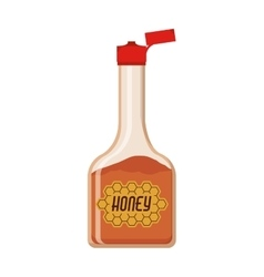 full color bottle with honey vector image