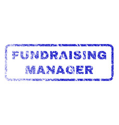 Fundraising manager rubber stamp vector