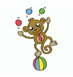 Funny monkey t-shirt design for kids vector