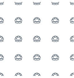 helmet icon pattern seamless white background vector image