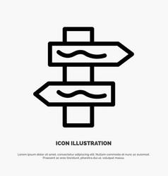 Index navigation road line icon vector
